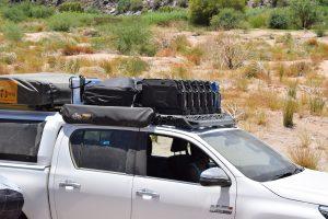 Toyota Hilux roof rack loading